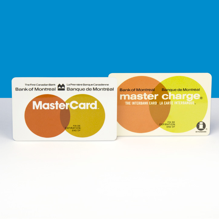 Image of two vintage BMO MasterCard cards