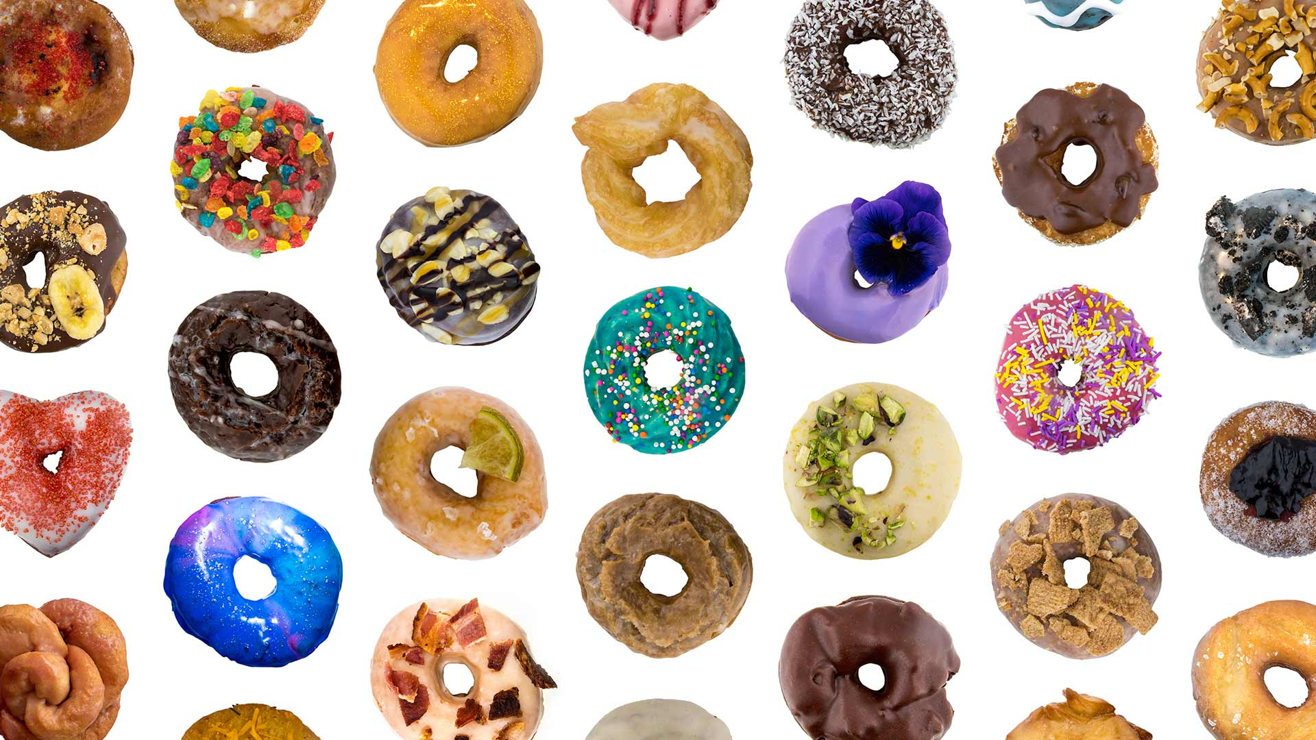Image of different varieties of donuts